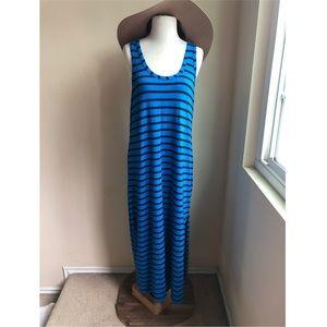 J. Crew Cobalt Blue striped maxi dress